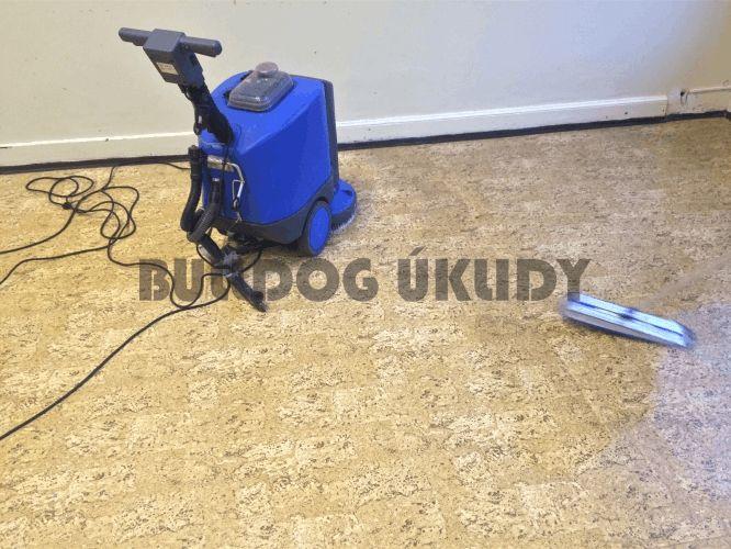 strojní mytí podlah linolea lina